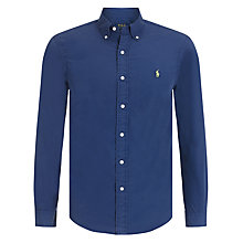 Buy Polo Ralph Lauren Long Sleeve Sport Shirt, New Classic Navy Online at johnlewis.com