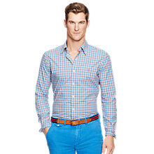 Buy Polo Ralph Lauren Button Down Sport Shirt, Blue/Pink Online at johnlewis.com