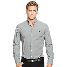 Buy Polo Ralph Lauren Long Sleeve Sport Shirt, Black/White Online at johnlewis.com