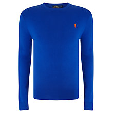 Buy Polo Ralph Lauren Long Sleeve Cotton Sweater, Cruise Royal Online at johnlewis.com