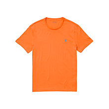 Buy Polo Ralph Lauren Jersey Crew Neck T-Shirt, Bright Signal Orange Online at johnlewis.com
