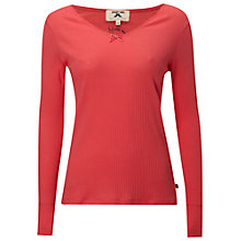 Buy White Stuff Ribbed Top, Blush Pink Online at johnlewis.com