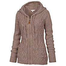 Buy Fat Face Alicia Cable Zip Thru Cardigan, Taupe Online at johnlewis.com