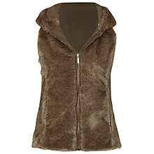 Buy White Stuff Brooklyn Faux Fur Reversible Gilet, Oak Tree Online at johnlewis.com