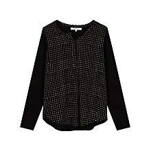 Buy Gerard Darel Bobo Print Blouse, Black Online at johnlewis.com