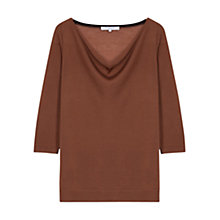 Buy Gerard Darel Bomba Cowl Neck Wool Jumper, Camel Online at johnlewis.com