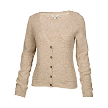 Buy Fat Face Dunsfold Flecked Cardigan, Oat Online at johnlewis.com