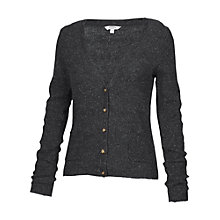 Buy Fat Face Dunsfold Flecked Cardigan, Charcoal Online at johnlewis.com