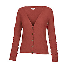 Buy Fat Face Dunsfold Flecked Cardigan, Burnt Sienna Online at johnlewis.com