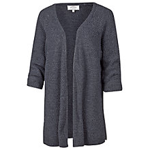Buy Fat Face Haywood Textured Edge To Edge Cardigan, Indigo Online at johnlewis.com