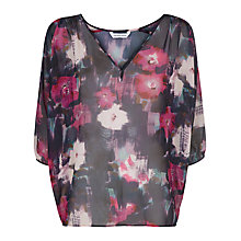 Buy Fenn Wright Manson Keris Floral Print Blouse, Black/Pink Online at johnlewis.com