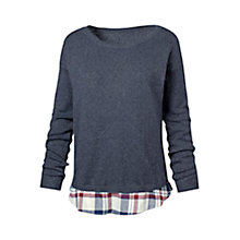 Buy Fat Face Woven Knit Mix Jumper Online at johnlewis.com