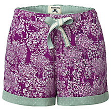 Buy White Stuff Hidden Trees Shorts, Purple Online at johnlewis.com