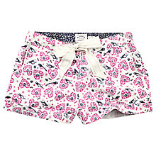 Buy Fat Face Folk Bird Print Pyjama Shorts, Fresh Snow Online at johnlewis.com