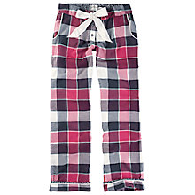 Buy Fat Face Buffalo Check Pyjama Trousers, Pink/Black Online at johnlewis.com