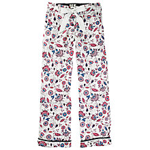 Buy Fat Face Folk Floral Printed Pyjama Pants, Fresh Snow Online at johnlewis.com