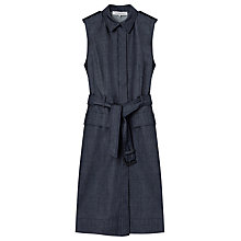 Buy Gerard Darel Denim Sleeveless Shirt Dress, Brut Denim Online at johnlewis.com
