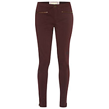 Buy White Stuff Jenny Zip Jeggings, Burgundy Online at johnlewis.com