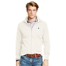 Buy Polo Ralph Lauren Jersey Zip Through Top, Cream Online at johnlewis.com