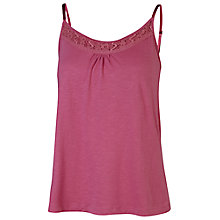 Buy Fat Face Lace Detail Swing Pyjama Cami, Rosy Glow Online at johnlewis.com