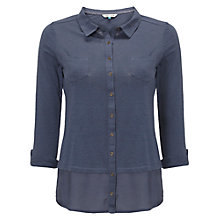 Buy White Stuff Melinka Jersey Shirt, Blue Online at johnlewis.com