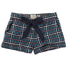 Buy Fat Face Otterbourne Check Shorts, Teal Online at johnlewis.com