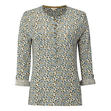 Buy White Stuff Linen Jersey Shirt, Teal Online at johnlewis.com