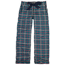 Buy Fat Face Otterbourne Check Pyjama Pants, Teal Online at johnlewis.com