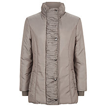 Buy Precis Petite Ruched Collar Coat, Light Brown Online at johnlewis.com