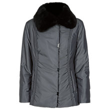 Buy Precis Petite Faux Fur Collar Coat, Dark Grey Online at johnlewis.com