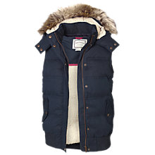 Buy Fat Face Kimberley Faux Fur Trim Gilet Online at johnlewis.com