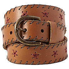 Buy White Stuff Whipstitch Belt, Tan Online at johnlewis.com