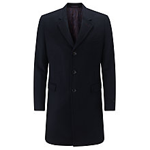 Buy Ted Baker Caspar Wool Cashmere Epsom Coat, Navy Online at johnlewis.com