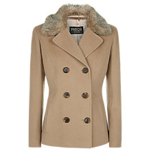 Buy Precis Petite Double Breasted Wool Coat, Mid Neutral Online at johnlewis.com