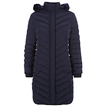 Buy Precis Petite Quilted Faux Fur Trim Coat, Black Online at johnlewis.com