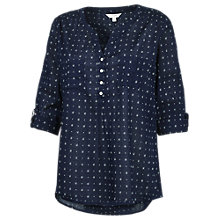 Buy Fat Face Anna Triangle Geo Popover Top Online at johnlewis.com
