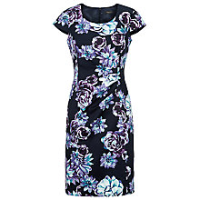 Buy Precis Petite Floral Print Shift Dress, Black/Multi Online at johnlewis.com