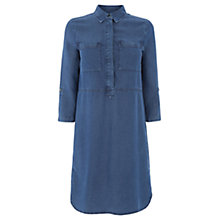 Buy Warehouse Denim Shirt Dress, Light Blue Online at johnlewis.com