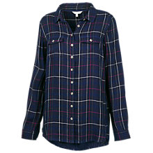 Buy Fat Face Boyfriend Doubles Check Shirt, Navy Online at johnlewis.com