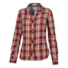 Buy Fat Face Fitted Check Shirt, Pink Online at johnlewis.com