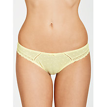 Buy COLLECTION by John Lewis Cecile Spot Mesh Briefs, Yellow Iris Online at johnlewis.com