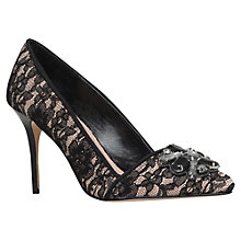 Buy Carvela Gardner Lace Style Embellished Vamp Court Shoes, Black/Other Online at johnlewis.com