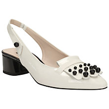 Buy Clarks V&A Swixties Sling Leather Court Shoes Online at johnlewis.com