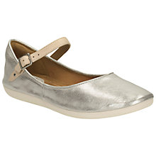 Buy Clarks Feature Film Leather Pumps, Silver Online at johnlewis.com