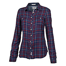Buy Fat Face Fitted Check Shirt, Navy/Red Online at johnlewis.com