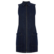 Buy Warehouse Denim A-Line Dress, Dark Wash Online at johnlewis.com