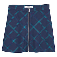 Buy Mango Checked Flared Skirt, Navy Online at johnlewis.com
