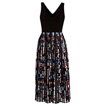 Buy Warehouse Floral Printed Pleated Dress, Multi Online at johnlewis.com