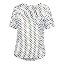Buy Fat Face Maddie Diamond Shell T-Shirt, Ivory Online at johnlewis.com