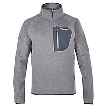 Buy Berghaus Chonzie Half Zip Men's Fleece, Silver Online at johnlewis.com